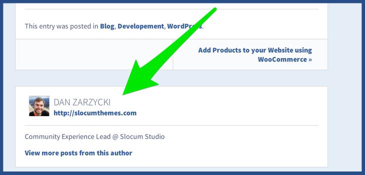 Edit Author Details on WordPress
