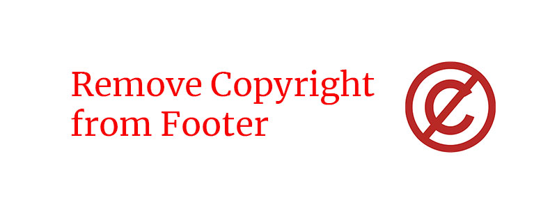 Remove copyright from footer on a wordpress website