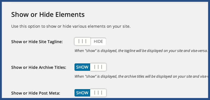 how to hide site tagline WordPress