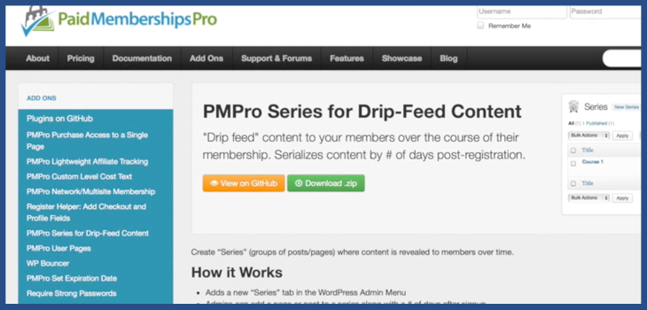 PMPro Series for Drip-Feed Content