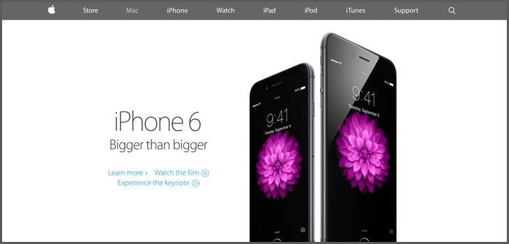 Apple Landing Page Design