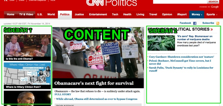 CNN page layout politics