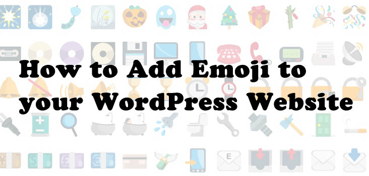 Add Emoji WordPress website