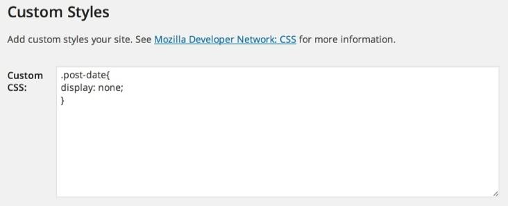 Custom CSS WordPress Themes