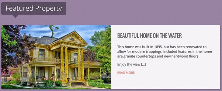 Featured property wordpress