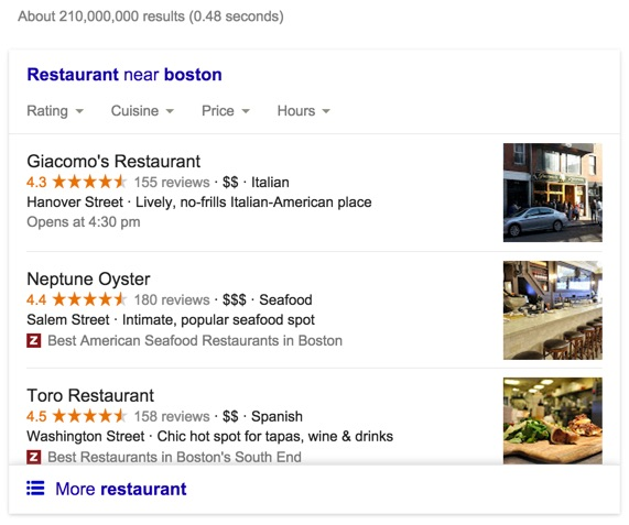 Example Google Front Page