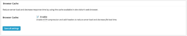 Enable Browser Caching W3 Total Cache