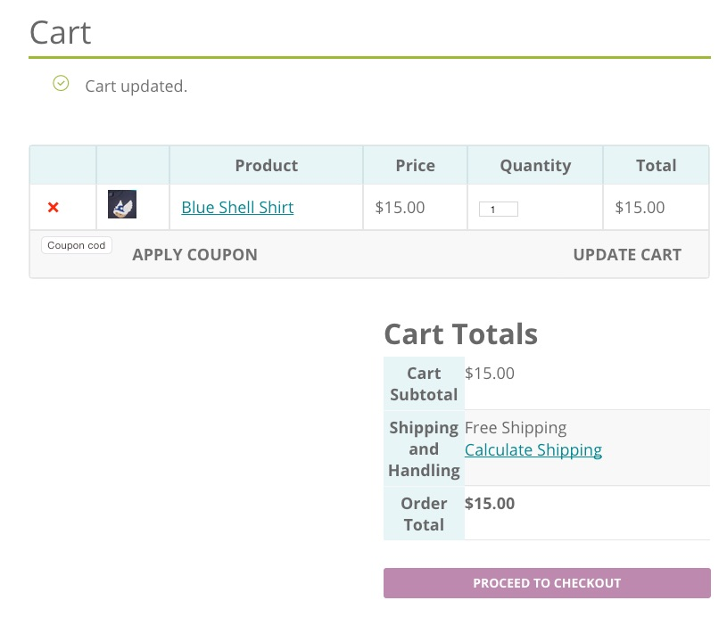 Cart WooCommerce 2.3