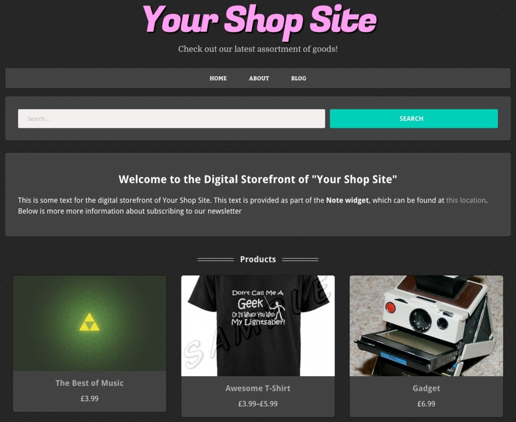 Display products on front page woocommerce