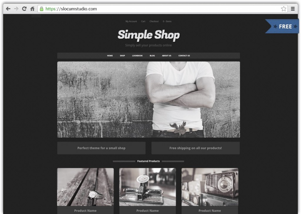 Free Simple Shop WordPress Theme