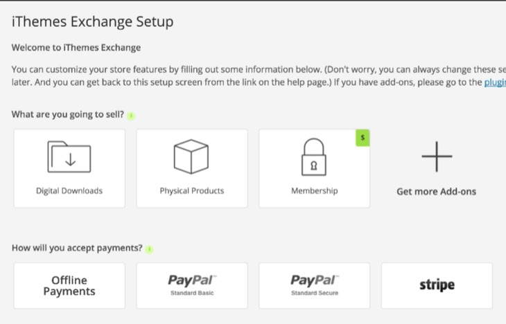 Setup iThemes Exchange