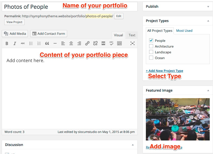 Add new Jetpack portfolio