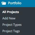 Jetpack portfolio menu