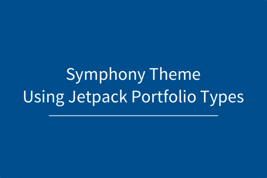Using Jetpack Portfolio and Symphony Theme