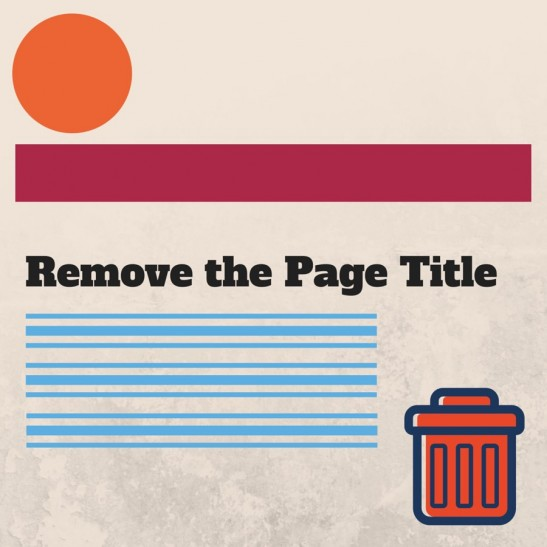 Remove the Page Title WordPress