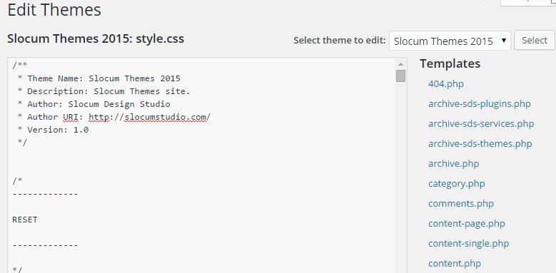 Editing style.css in WordPress