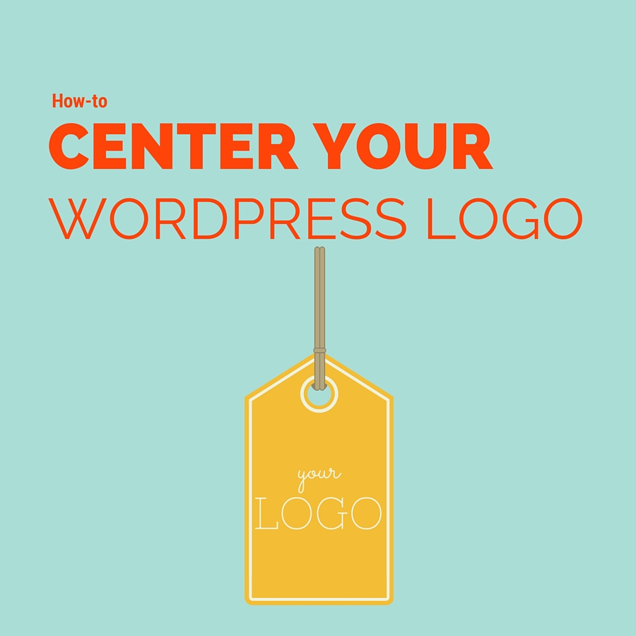 how to center your wordpress logo