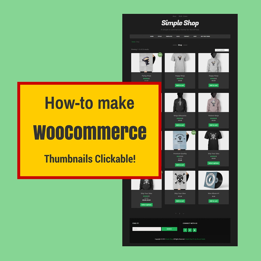 make woocommerce thumbnails clickable
