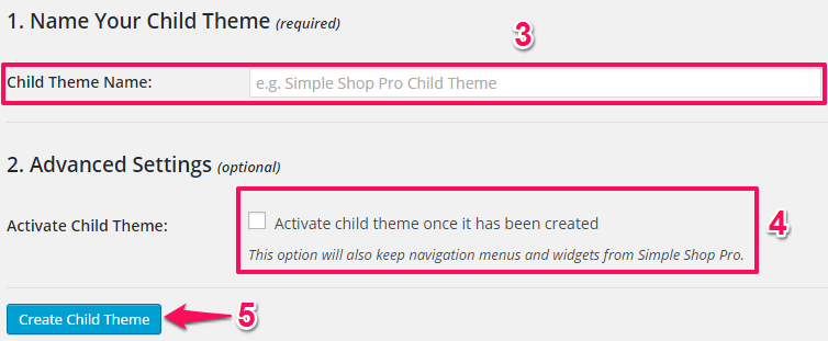 OneClickChildThemeOptions