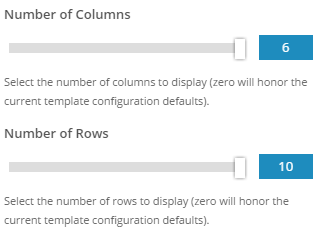 Rows and Columns Features