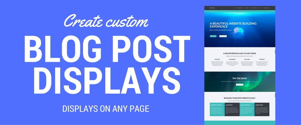 custom blog posts displays conductor